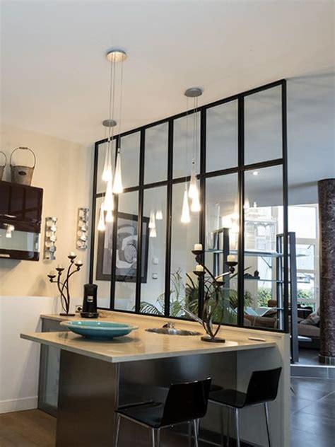 espace verriere verriere datelier cuisine interieur