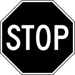 Stop Sign Clip Art Black and White