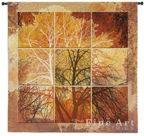 october light contemporary tapestry wall hanging abstract tree picture h55 quot x w52 quot