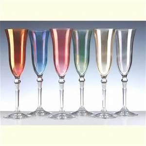 Coupe De Champagne Plastique : verres pied flute cristal couleur andrea x 6 fl tes champagne n 7 contenance 21 3 cl ~ Teatrodelosmanantiales.com Idées de Décoration