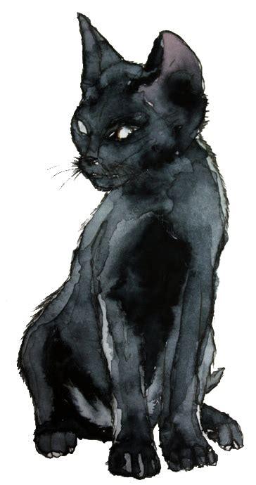 kitty cat art black  white eyes vintage black draw