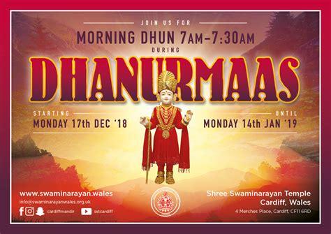 shree swaminarayan temple cardiff dhanurmaas celebrations shree