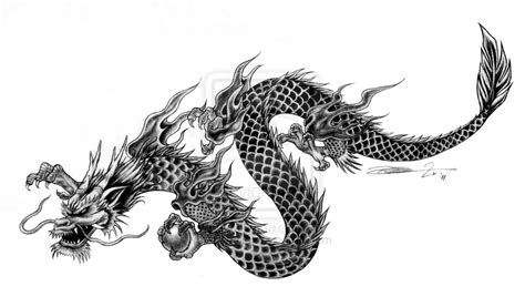 3d Chinese Dragon With Wings Tattoo » Tattoo Ideas