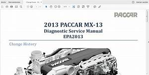 Manual De Servicio De Diagn U00f3stico Paccar Mx-13  Ingles