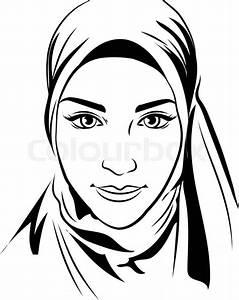 Portrait Of Muslim Beautiful Girl In Patterned Hijab
