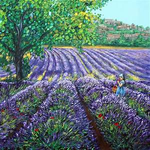 Scent of Provence, 48x48 - Lavender Paintings by Jennifer ...