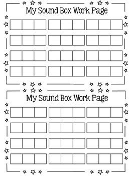 sound box elkonin boxes work pages by caitlin kramer tpt