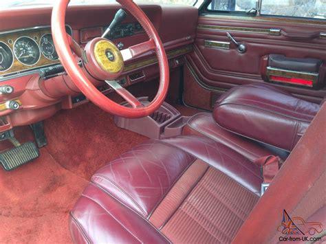 jeep burgundy interior jeep grand wagoneer 4x4 rebuilt motor super clean 6 quot lift