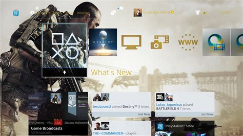 ps4 2 0 free destiny and call of duty advanced warfare themes now available for download updated