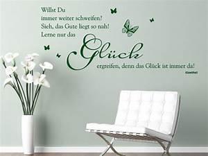 Die Neue Wand : gl cksgef hle spruch wandtattoos zum thema gl ck wandtattoo spr che ~ Markanthonyermac.com Haus und Dekorationen