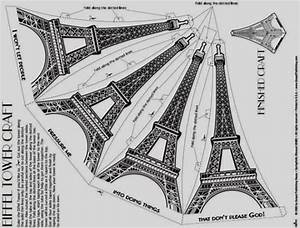 build your own easy to build eiffel tower paper model by With eiffel tower model template