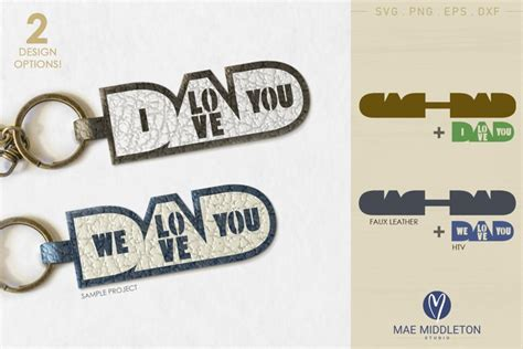 Check spelling or type a new query. Love you Dad | Faux Leather Keychain Template (663244 ...