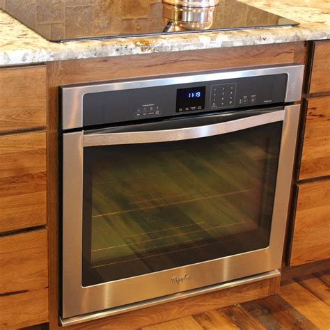 oven in base cabinet rustic beech kitchen and cabinets in bettendorf ia by