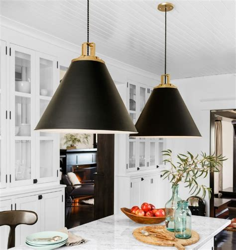 black kitchen pendant light cone pendants new lighting for our kitchen driven by decor 4710