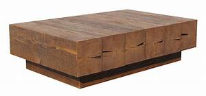 Beam coffee table urban woods for Reclaimed beam coffee table