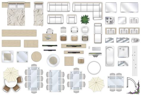 furniture floorplan top  view style  psd