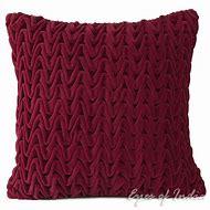 Burgundy Velvet Throw Pillow