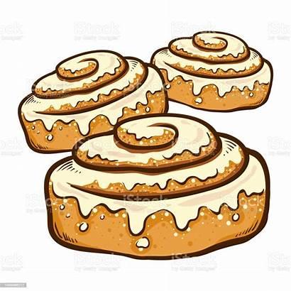 Cinnamon Rolls Vector Drawn Hand Clip Bread