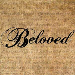 BELOVED Word w Text CALLIGRAPHY Handwriting Digital by ...