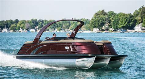 New Pontoon Boats by 2017 Qx25 Fastback Fiberglass Pontoon Boats By Bennington