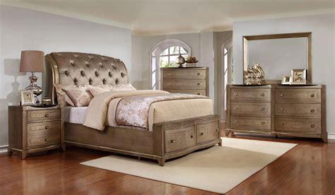 Antique Gold 4 Piece Bedroom Set  Gonzalez Furniture