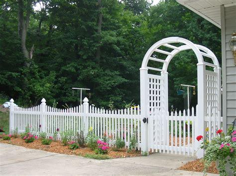 White Wood Picket Fence Panels