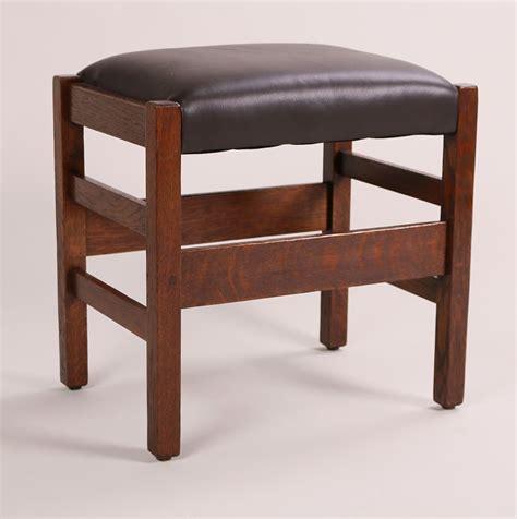 ljg stickley footstool signed refinished ljg