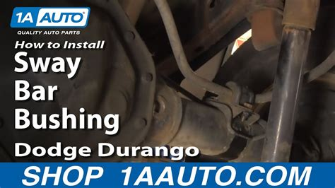 install replace rear sway bar bushings dodge