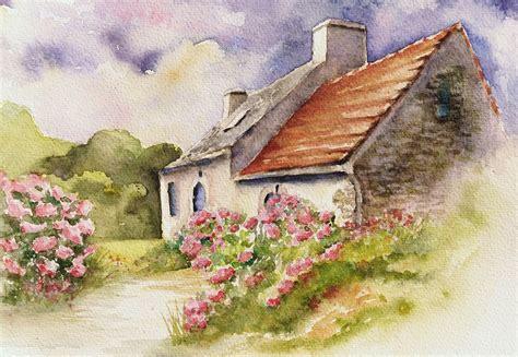 Bild Häuschen, Bretagne, Hortensien, Romantisch Von