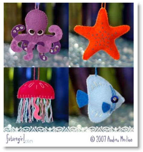 super cute felt sea creature patterns instructions felting