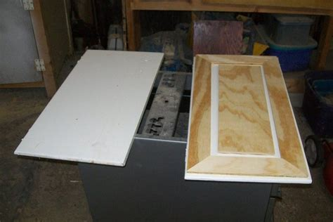 how to make raised panel cabinet doors faux raised panel cabinet door redo by myfathersson
