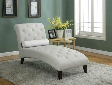 Lounge Chaise Sofa by Beige Fabric Chaise Lounge Sofa Seat Living Room