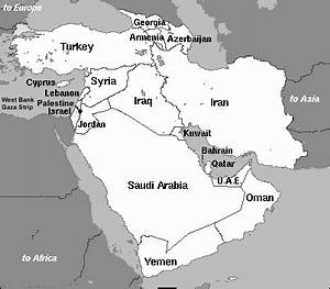 Information about Middle East Map With Country Names - yousense.info