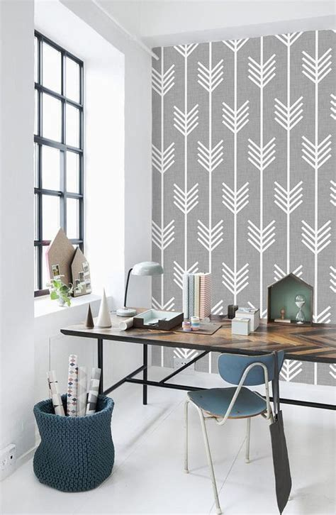 beautiful rooms   geometric wallpaper trend