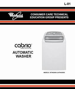 Whirlpool Cabrio Washer Service  U0026 Repair Manual