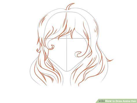 ways  draw anime hair wikihow