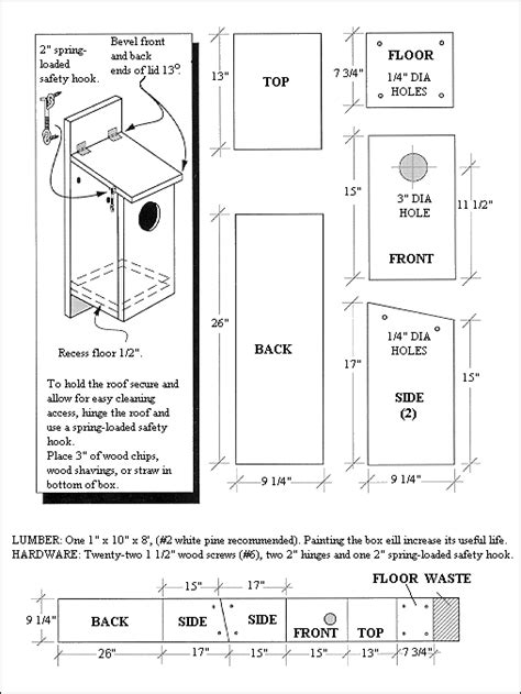 kestrel nest box plan marylands wild acres