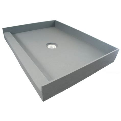 fin pan preformed 48 in x 48 in single threshold shower - Shower Base Pan
