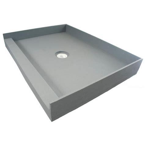 fin pan preformed 48 in x 48 in single threshold shower - Shower Pans