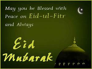Blessed and Pea... Eid Holidays Quotes