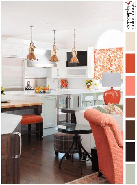 White Kitchen With Peach Accents Color Palette, Pantone