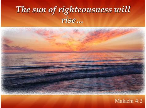 malachi    sun  righteousness  rise powerpoint church sermon powerpoint templates