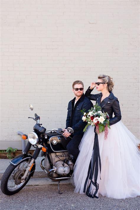 sweet  edgy romance wedding inspiration rocker