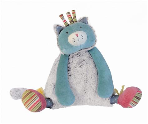 moulin roty peluche chat musicale les pachats 21 cm