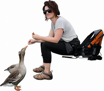 Skalgubbar Hiking Feeding Birds Cut Couple Feed