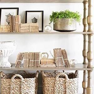 #neutral #styling #wicker #wood #baskets #greenery #