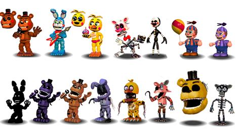 Fnaf 2 Characters Canon By Aidenmoonstudios On Deviantart