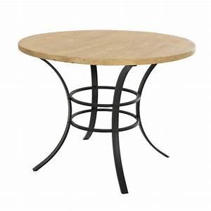 Table De Jardin Ronde En Bois : table de jardin ronde bois dublin noir naturel table ~ Dailycaller-alerts.com Idées de Décoration