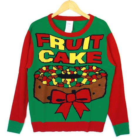 fruitcake tacky ugly christmas sweater the ugly sweater shop