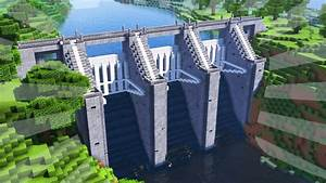 How To Build A Water Dam In Minecraft  Creative Building